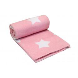 """Одеяло-плед детское 100х140см Vladi """"Звезда"""" розовый"""
