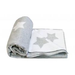 """Одеяло-плед детское 100х140см Vladi """"Звезда"""" серый"""