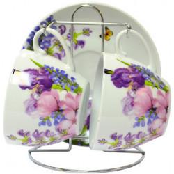 Сервиз чайный 5пр Keramia Пурпурные цветы K24-198-005