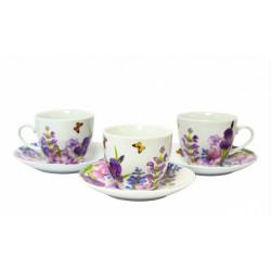 Сервиз чайный 12пр Keramia Пурпурные цветы K24-198-003
