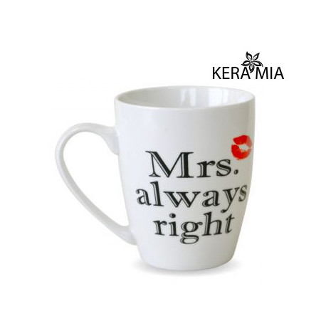 Кружка 360 мл Keramia Mrs. always right 21-272-050