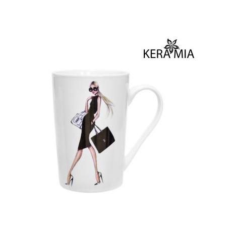 Кружка 390 мл Keramia Модная девушка 21-279-016