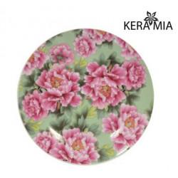 Тарелка десертная 19см Keramia Пионы K24-198-058