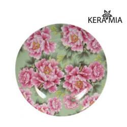 Тарелка обеденная 23см Keramia Пионы K24-198-059
