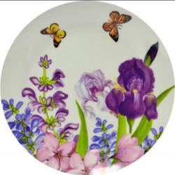 Тарелка обеденная 23см Keramia Пурпурные цветы K24-198-023
