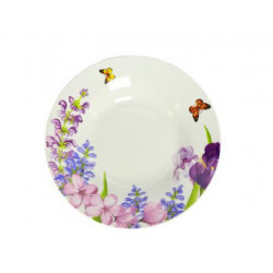 Тарелка глубокая 20см Keramia Пурпурные цветы K24-198-026