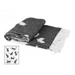 Плед 140х200 LightHouse - Meow темно-серый