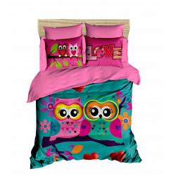Постельное белье евро LightHouse ranforce+3D Owls in love