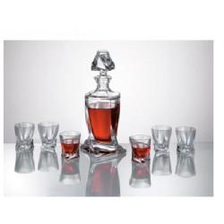 Quadro Набор/водка 7пр. (6 рюмок 50мл, 1 графин)