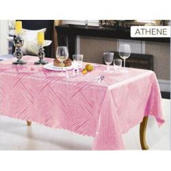 Скатерть прямоугольная 150х220см Arya - Athene розовая