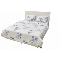 Постельное белье евро Arya Rigel цветы синие