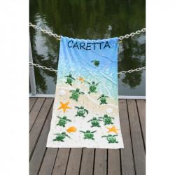 Полотенце пляжное 75х150 Lotus - Caretta велюр