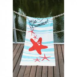 Полотенце пляжное 75х150 Lotus - Hello Summer велюр