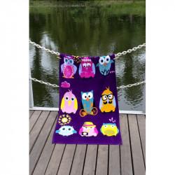 Полотенце пляжное 75х150 Lotus - Owls Family велюр