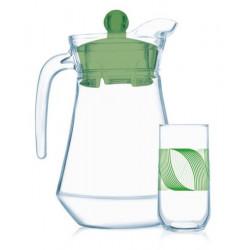 Набор для напитков Luminarc Green Rings 7 пр N9664