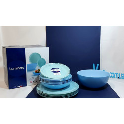 Сервиз столовый 19пр Luminarc Diwali Light Turquoise&Blue