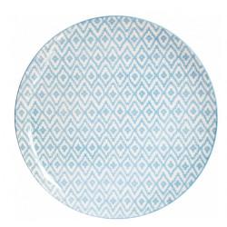 Тарелка обеденная 27 см Milika Thai Silk Skiey