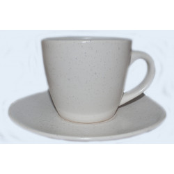 Чашка с блюдцем 300мл Marble Cream Astera