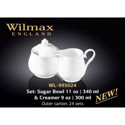 Набор сахарница и молочник -2пр Wilmax Color WL-995024/2C