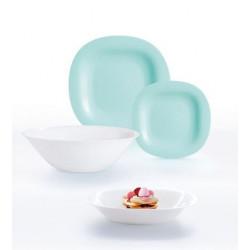 Сервиз 19предметов Luminarc Light Turquoise & White P7627