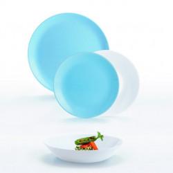 Сервиз столовый 18 предметов Luminarc Diwali Light Blue & White P5911