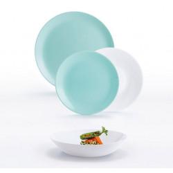 Сервиз столовый 18 предметов Luminarc Diwali Light Turquoise & White P5912