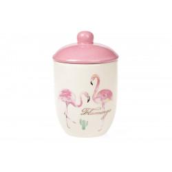 Банка керамическая 500мл BonaDi Розовый Фламинго