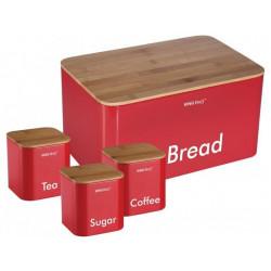 Хлебница с тремя банками Kinghoff KH-1085