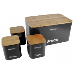 Хлебница с тремя банками Kinghoff KH-1086