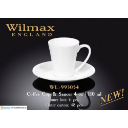 Чашка кофейна и блюдце 110мл Wilmax WL-993054