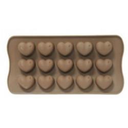 Форма для шоколада силиконовая сердце 20,5х10см Vincent VC-1406