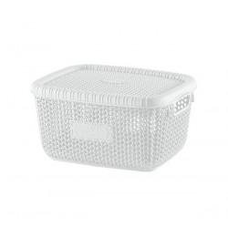 Корзина для хранения 5 л White 1009 Виолетта WHITE с/кр. 5 л
