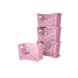 Корзина для хранения 88х27х36 см Powder Violet House 0409