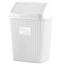 Корзина для мусора 10 л Violet House WHITE 0026 Виолетта WHITE 10 л