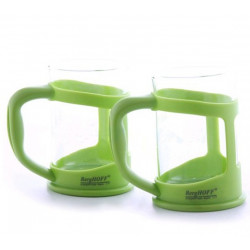 Чашка для кофе/чая стеклянная в подставке Berghoff  1106840